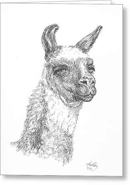 Llama Greeting Card by Deborah Dallinga