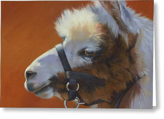 Llama Love Greeting Card by Alecia Underhill