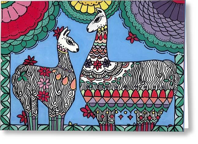 Llama Mama Greeting Card