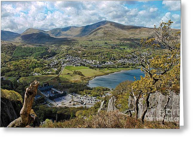 Llanberis Viewpoint Greeting Card by Chris Evans