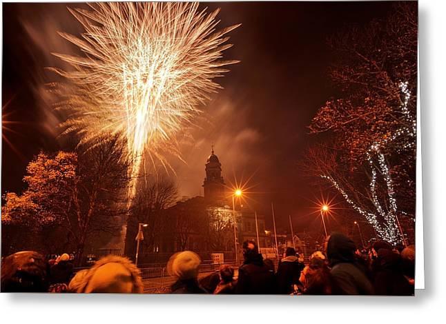 Llanelli Fireworks Greeting Card