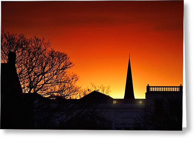 Llanelli Rooftops Greeting Card