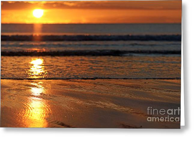 Llangennith Beach Sand Textures Greeting Card