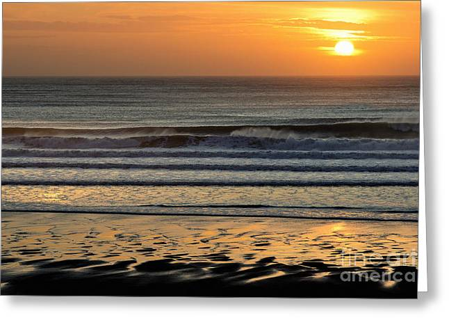 Llangennith Gold Reflections Greeting Card