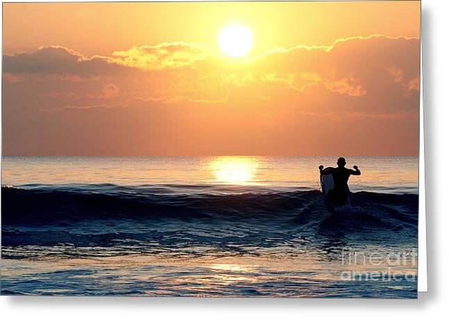 Llangennith Last Wave Greeting Card