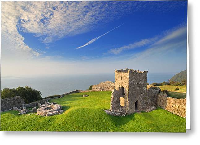 Llansteffan Castle 2 Greeting Card