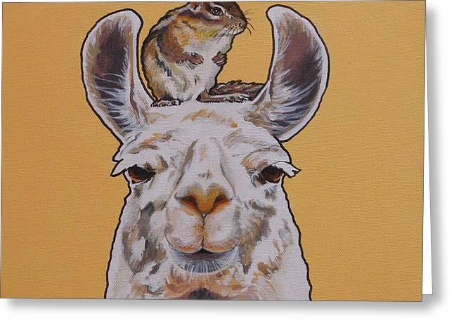 Llois The Llama Greeting Card