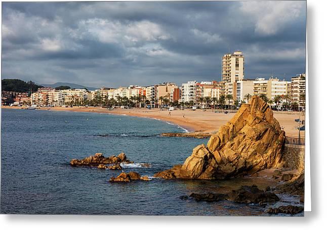 Lloret De Mar On Costa Brava In Spain Greeting Card