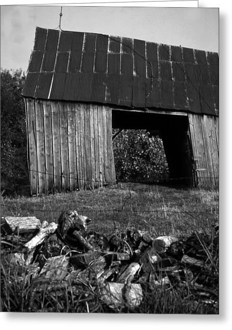 lloyd-shanks-barn-2BW Greeting Card