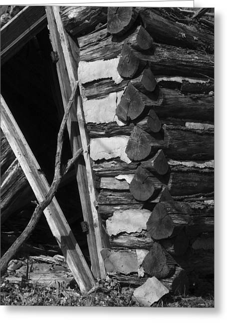 lloyd-shanks-barn-3BW Greeting Card by Curtis J Neeley Jr