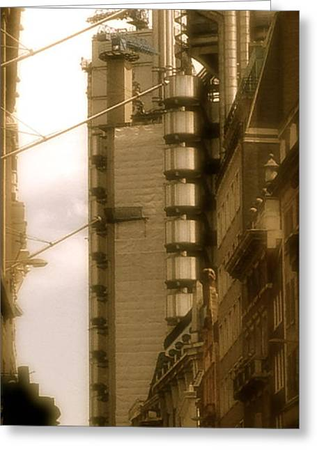 Lloyds Of London Building Greeting Card by John Colley