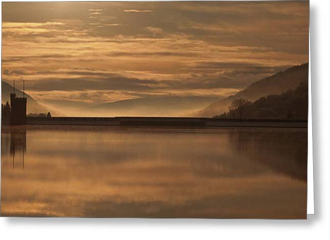 Llwyn Onn Reservoir Greeting Card by Nigel Forster
