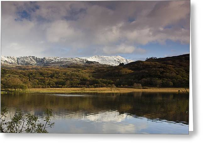 Llyn Dinas - Snowdonia - Wales Greeting Card by Gary Rowe