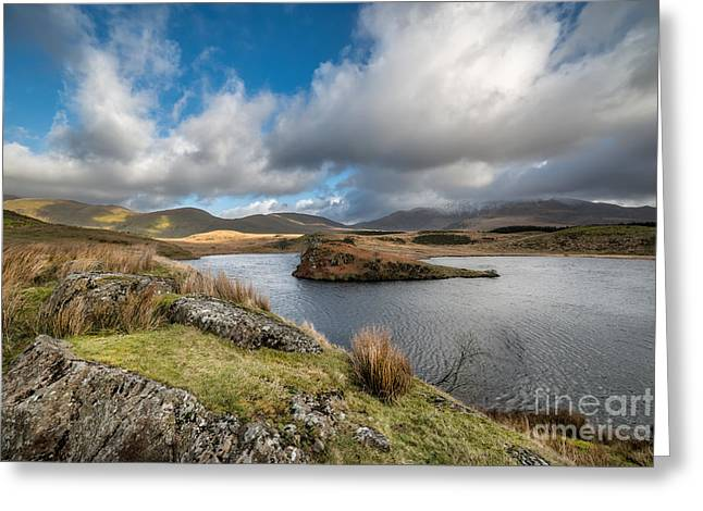 Llyn Y Dywarchen Greeting Card by Adrian Evans