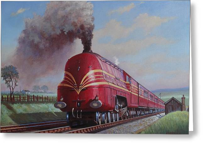 Lms Stanier Pacific Greeting Card by Mike  Jeffries