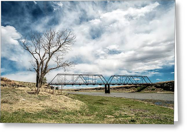 Lobato Bridge In Colorado Greeting Card by Mary Lee Dereske