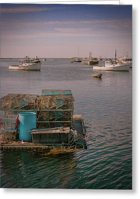Lobstar Pot Float Greeting Card