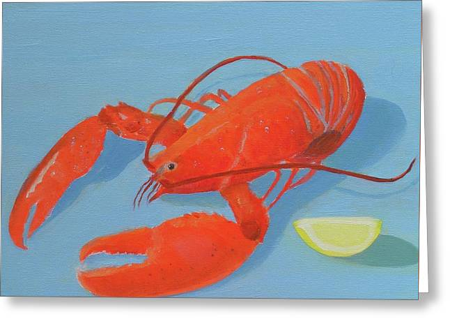 Lobster And Lemon Greeting Card