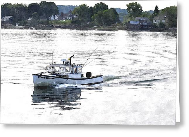 Lobster Boat Lbwc Greeting Card
