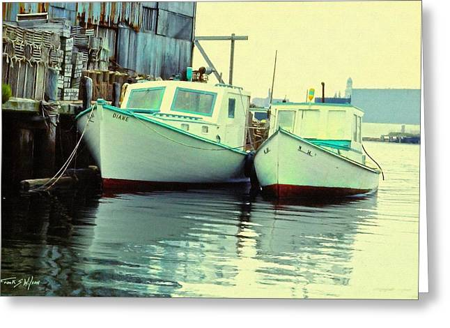 Lobster Boats Greeting Card