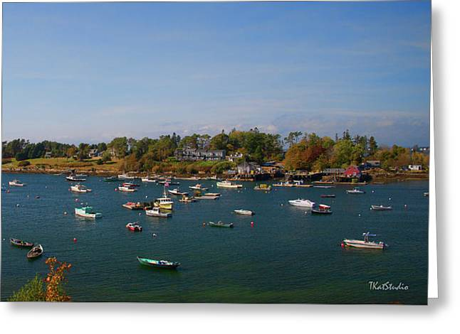 Lobster Boats On The Coast Of Maine Greeting Card