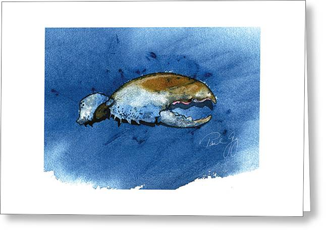 Lobster Claw Greeting Card by Paul Gaj