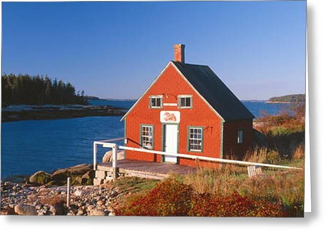 Lobster House In Autumn, Stonington Greeting Card by Panoramic Images