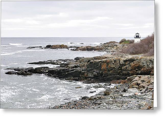 Lobster Point Lighthouse - Ogunquit Maine Greeting Card
