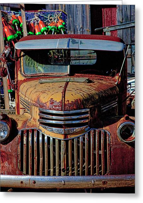 Lobster Pots And Chevys Greeting Card