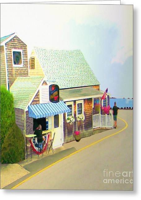 Lobster Shack Greeting Card by Richard Stevens