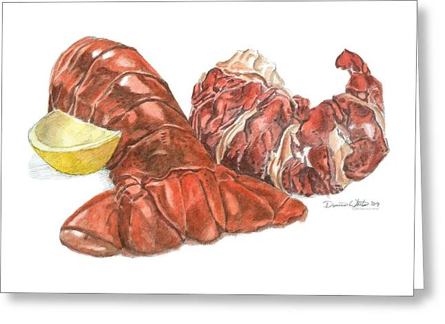 Lobster Tail And Meat Greeting Card