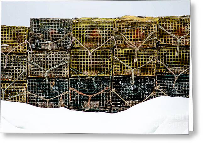 Lobster Traps Greeting Card by Victory  Designs