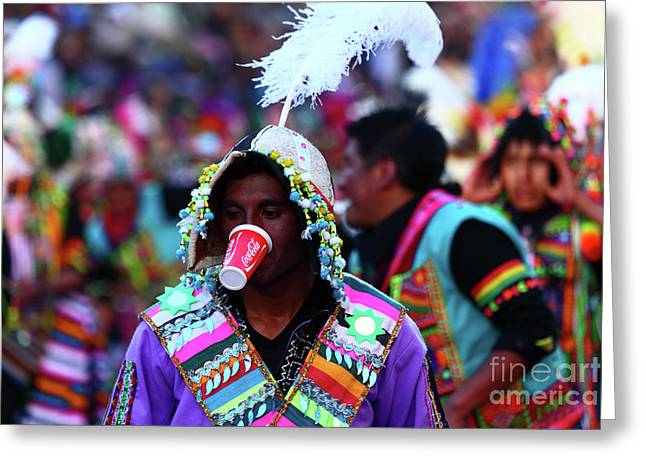 Local Costumes Worldwide Drinks Greeting Card by James Brunker