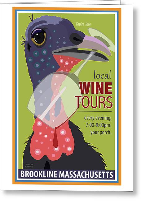 Local Wine Tours Greeting Card