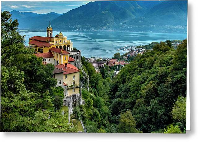 Locarno Overview Greeting Card by Alan Toepfer