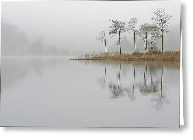 Loch Ard Misty Sunrise Greeting Card