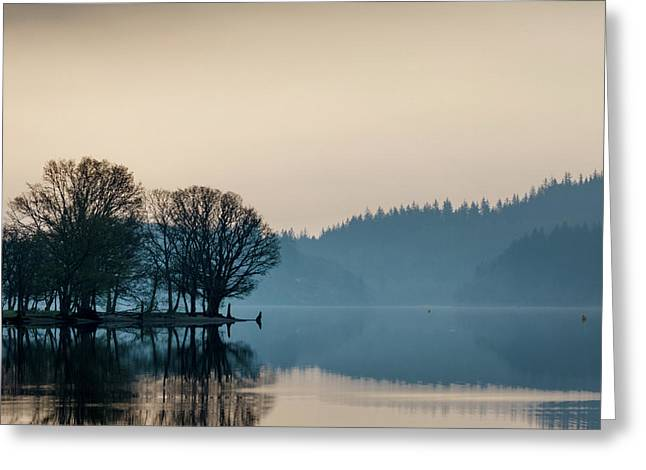 Loch Ard Reflection Greeting Card