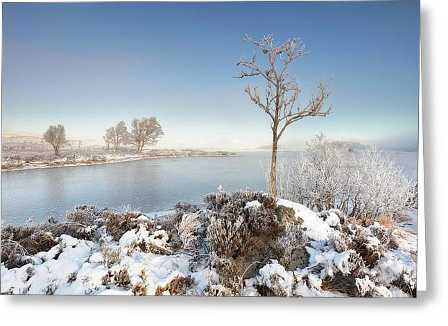Greeting Card featuring the photograph Loch Ba Winter by Grant Glendinning
