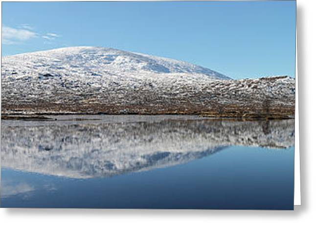 Greeting Card featuring the photograph Loch Droma Panorama by Grant Glendinning