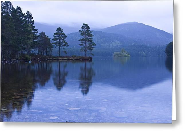 Loch Garten In The Cairngorms Scotland Greeting Card by Gabor Pozsgai