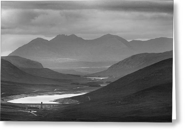 Loch Glascarnoch And An Teallach Greeting Card