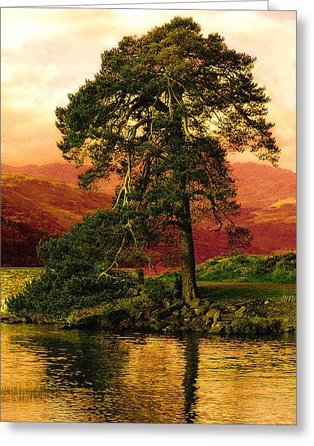 Gloaming Greeting Cards - Loch Lomond Gloaming Greeting Card by Rianna Stackhouse