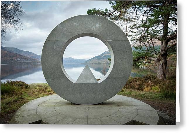 Loch Lomond National Park Memorial Sculpture Greeting Card