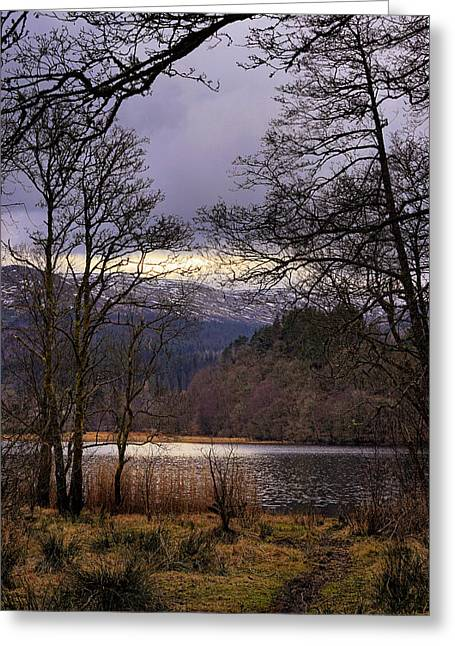 Greeting Card featuring the photograph Loch Venachar by Jeremy Lavender Photography