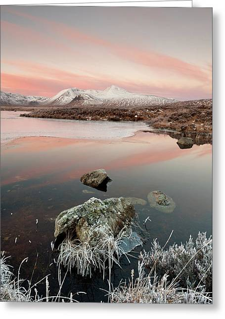 Lochan Nah Achlaise Winter Sunrise Greeting Card by Robert Strachan