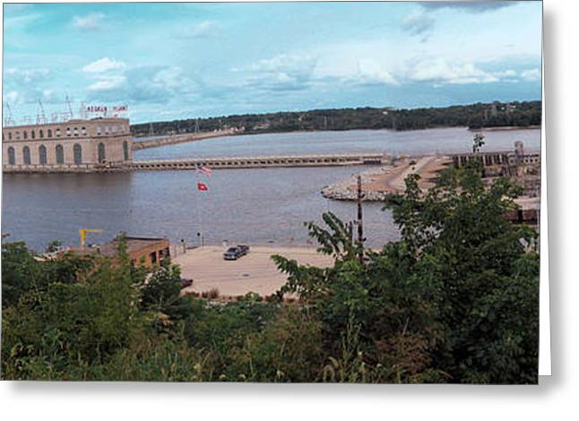 Lock And Dam 19 Greeting Card by Jame Hayes