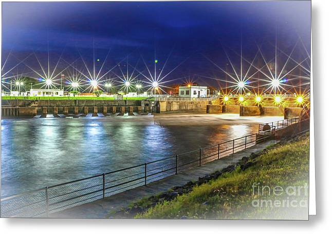 Lock And Dam #2 Greeting Card by Tom Claud