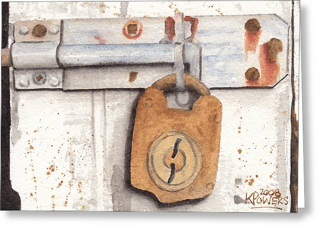 Lock And Latch Greeting Card by Ken Powers