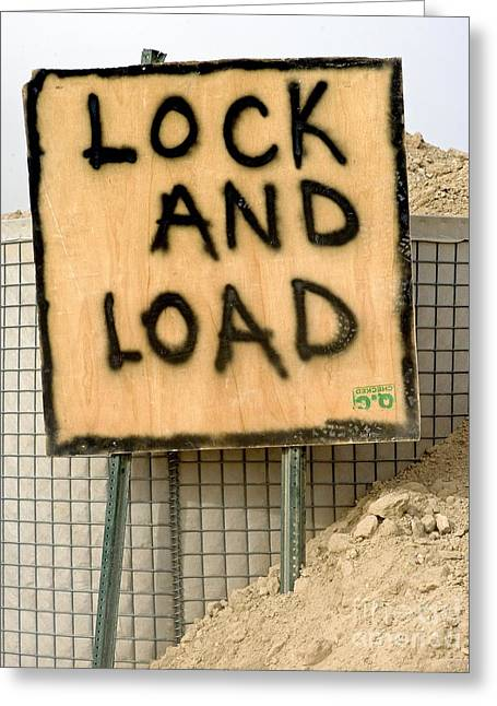Lock And Load Greeting Card by Unknown
