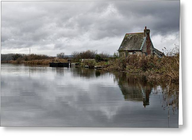 Lock Keepers Cottage At Topsham Greeting Card by Pete Hemington